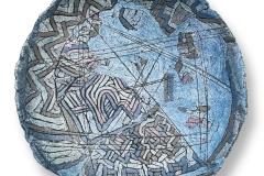 3. Cymbals , ceramics. 2018. Size: 70x300x300 mm
