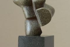 13. 2009. Size: 19 x 14 x12 cm, bronze , granit